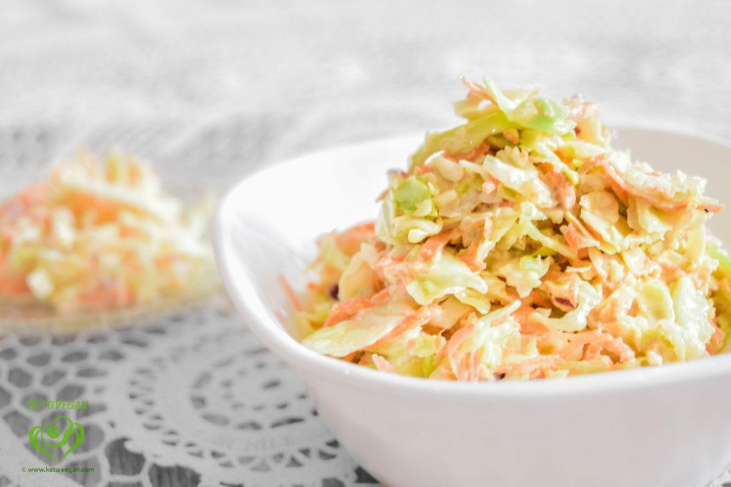 Creamy Keto-Vegan Coleslaw