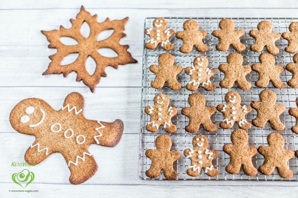 Grain-Free Sugar-Free Vegan Gingerbread Cookies