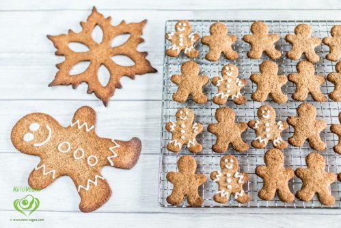 Grain-Free Sugar-Free Vegan Gingerbread Cookies | www.keto-vegan.com