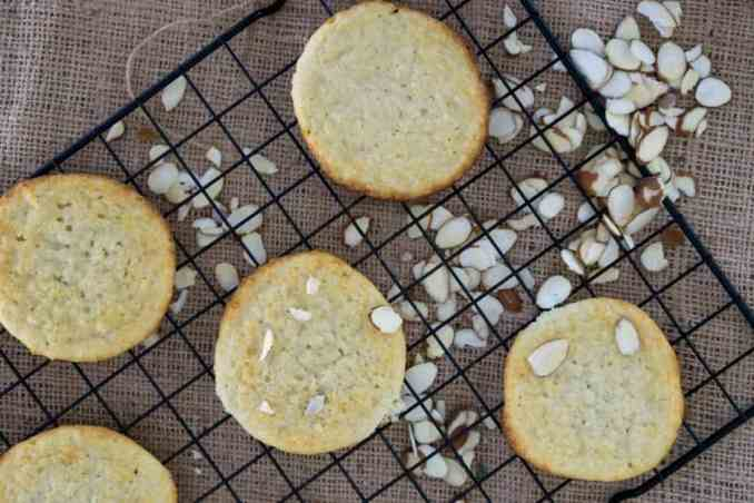 cooling rack with ricotta cookies on it