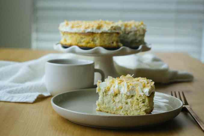low carb coconut cream pie plate