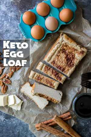 Our egg loaf recipe is made with three whole ingredients, is easy to prepare and will satisfy your entire family for a healthy breakfast!
