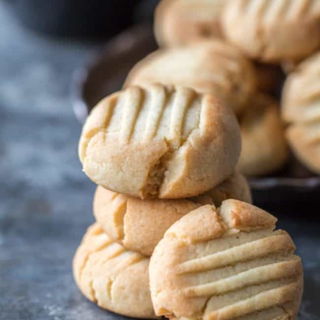Butter cookies stacked