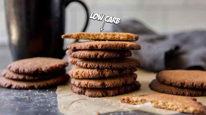 stack of ginger snap cookies