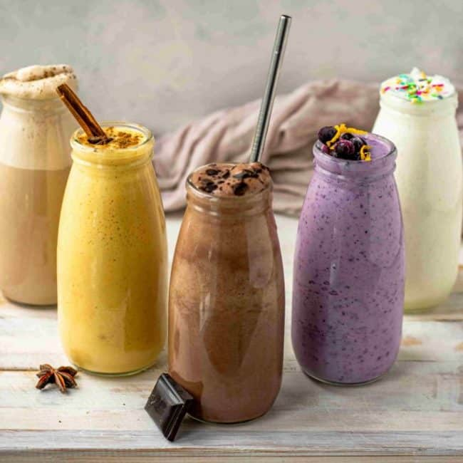 5 keto shakes all lined up