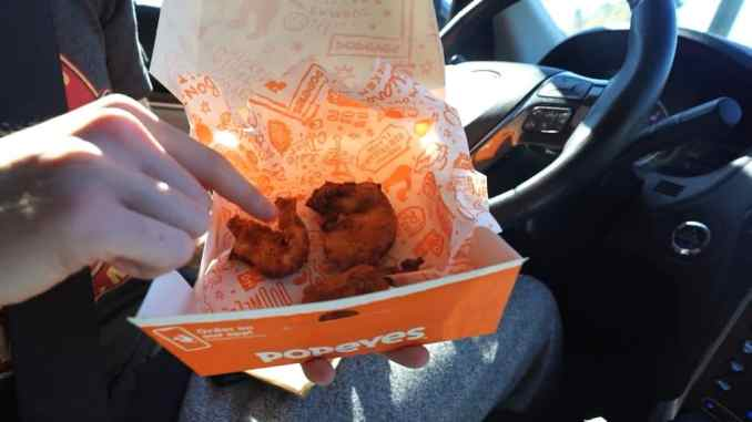 three piece blackened chicken tenders meal from popeyes