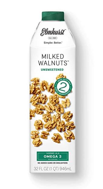 simple container of milked walnuts