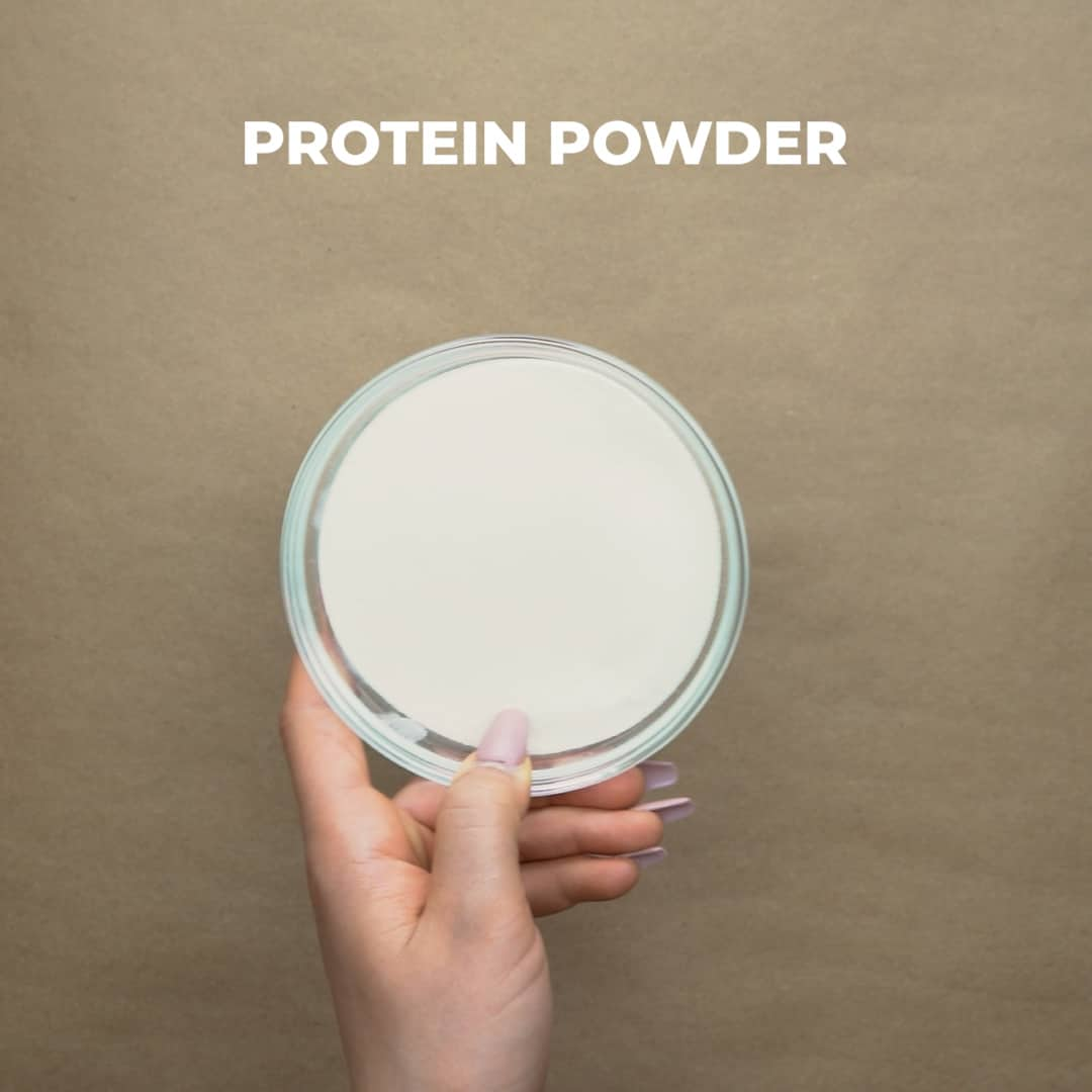protein powder in a small bowl
