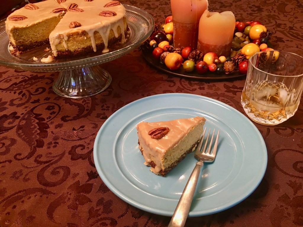 keto caramel pumpkin cheesecake