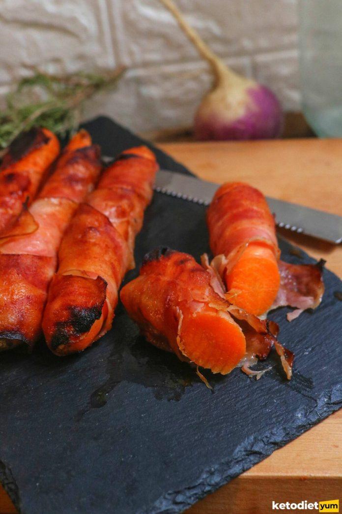 sweet bacon carrots recipe