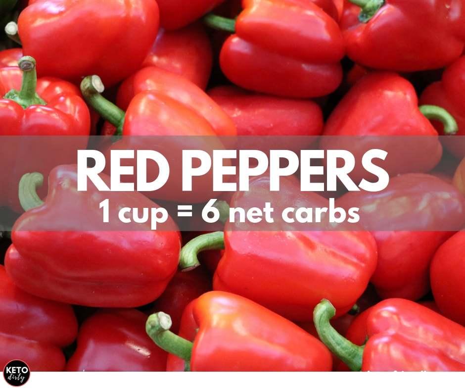 red peppers 6 net carbs keto veggies