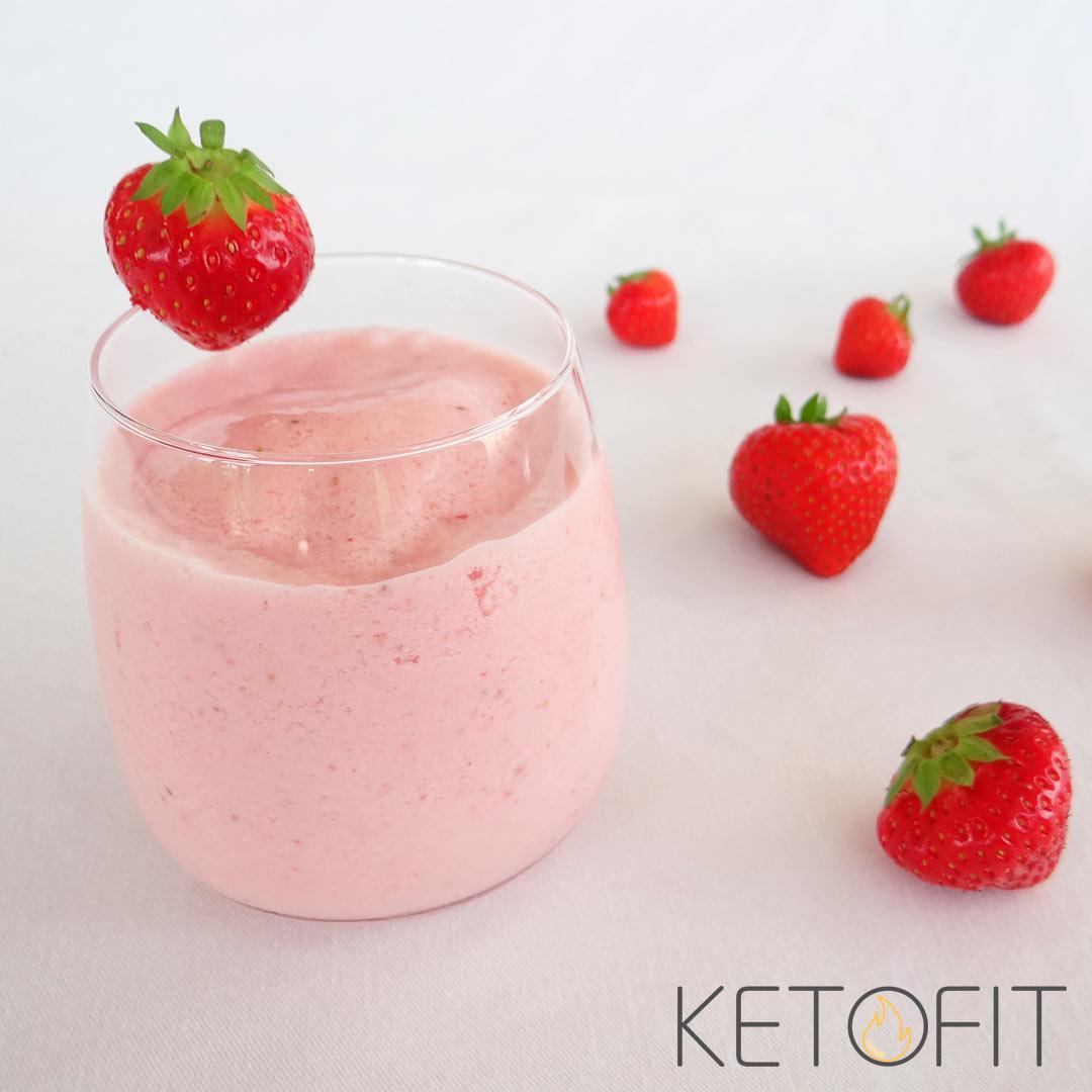 Keto aardbeien smoothie