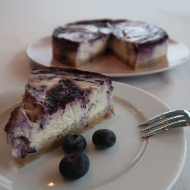 Bosbessen cheesecake