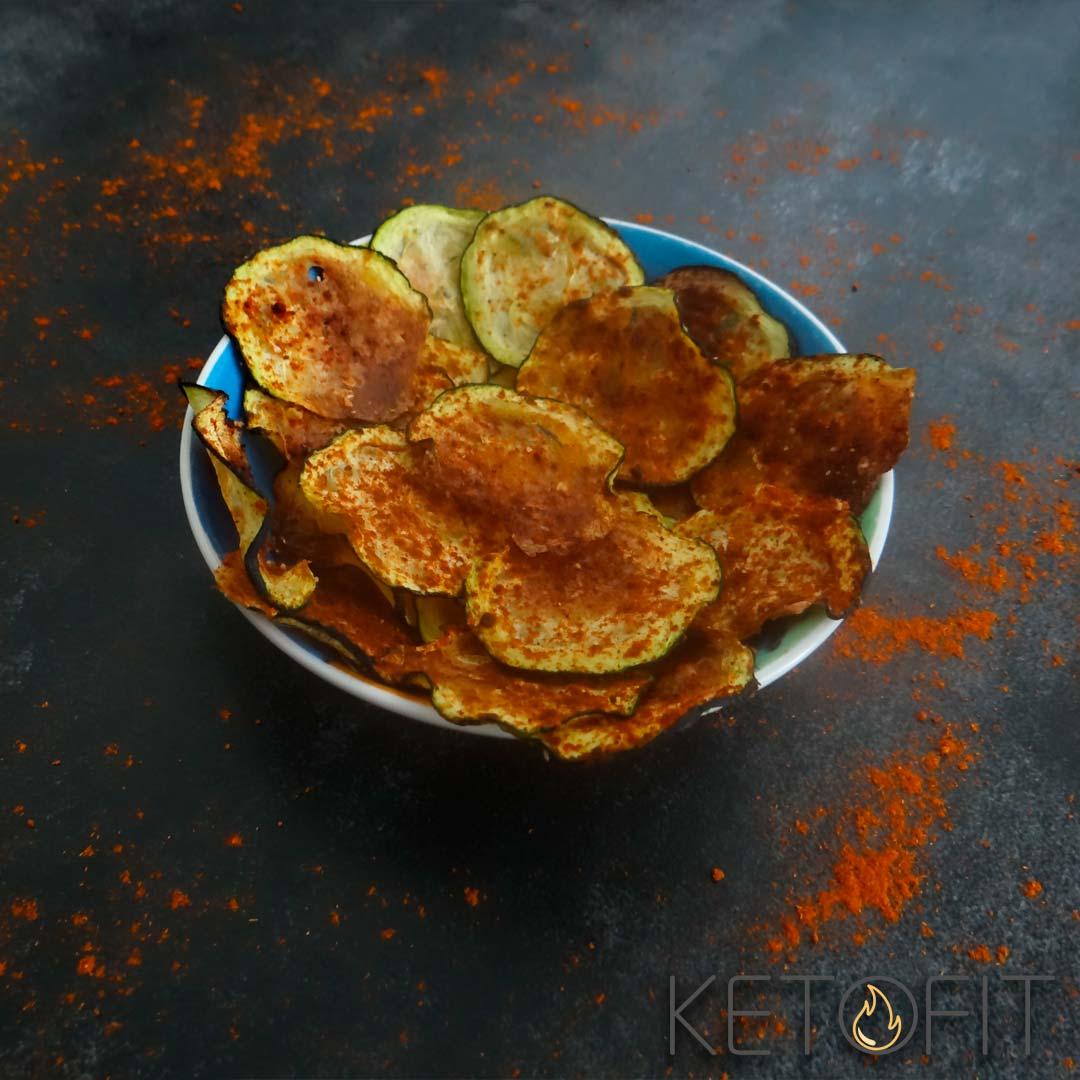 Recept voor keto courgette chips