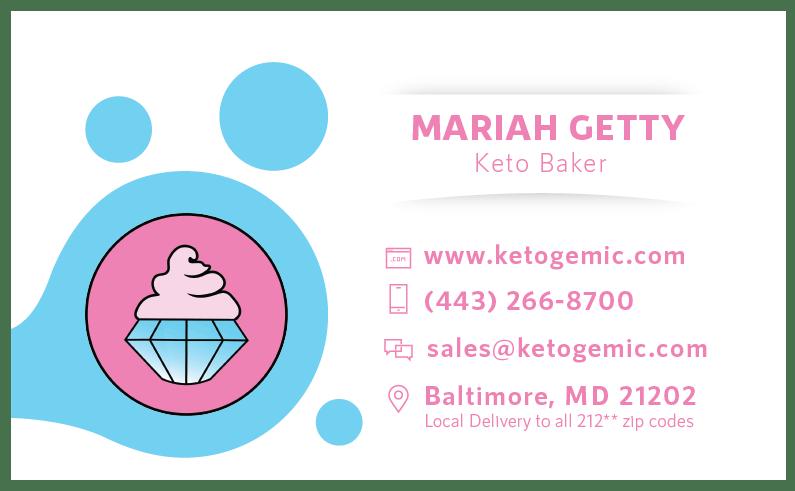 Ketogemic Business Card Back