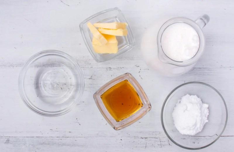 Ingrediënten keto vanille ijs