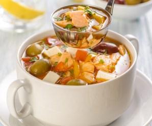 Суп с форелью по-гречески