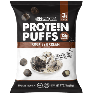 protein puff cookies and cream