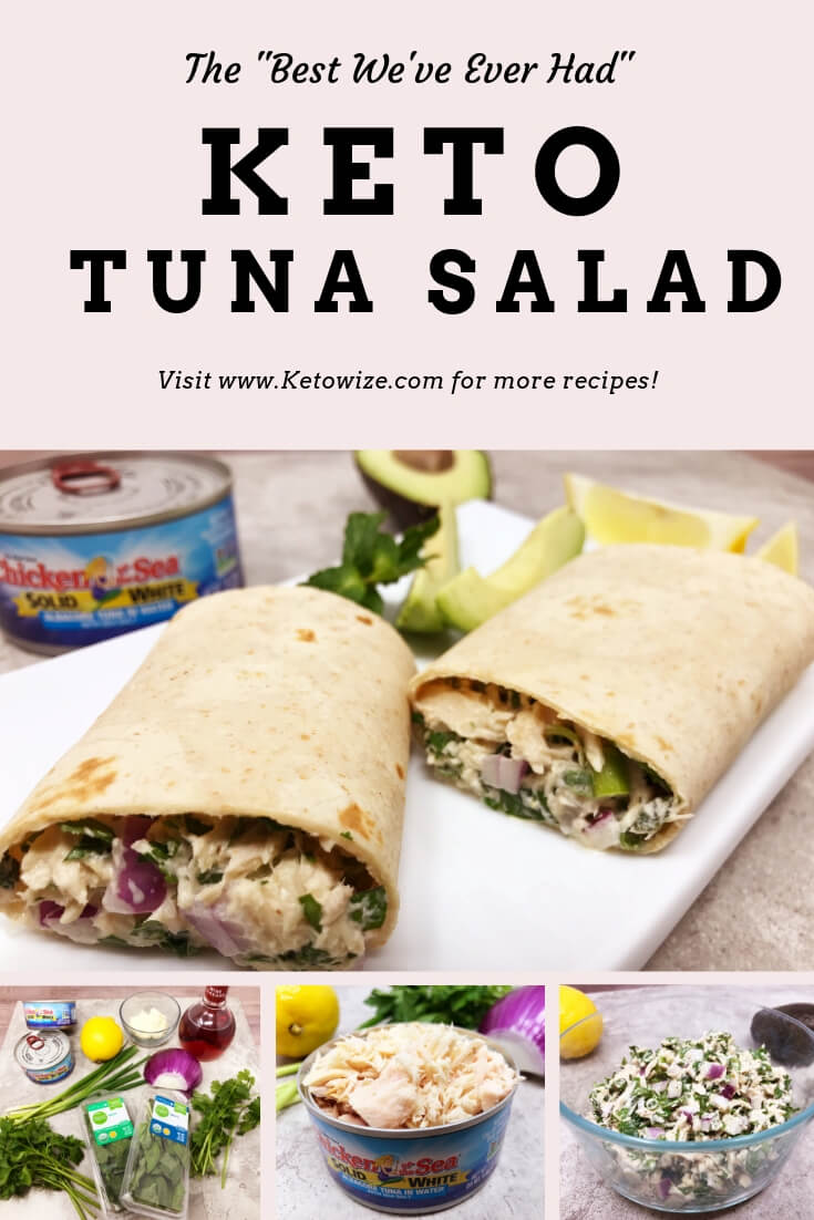 This keto tuna salad is one of my