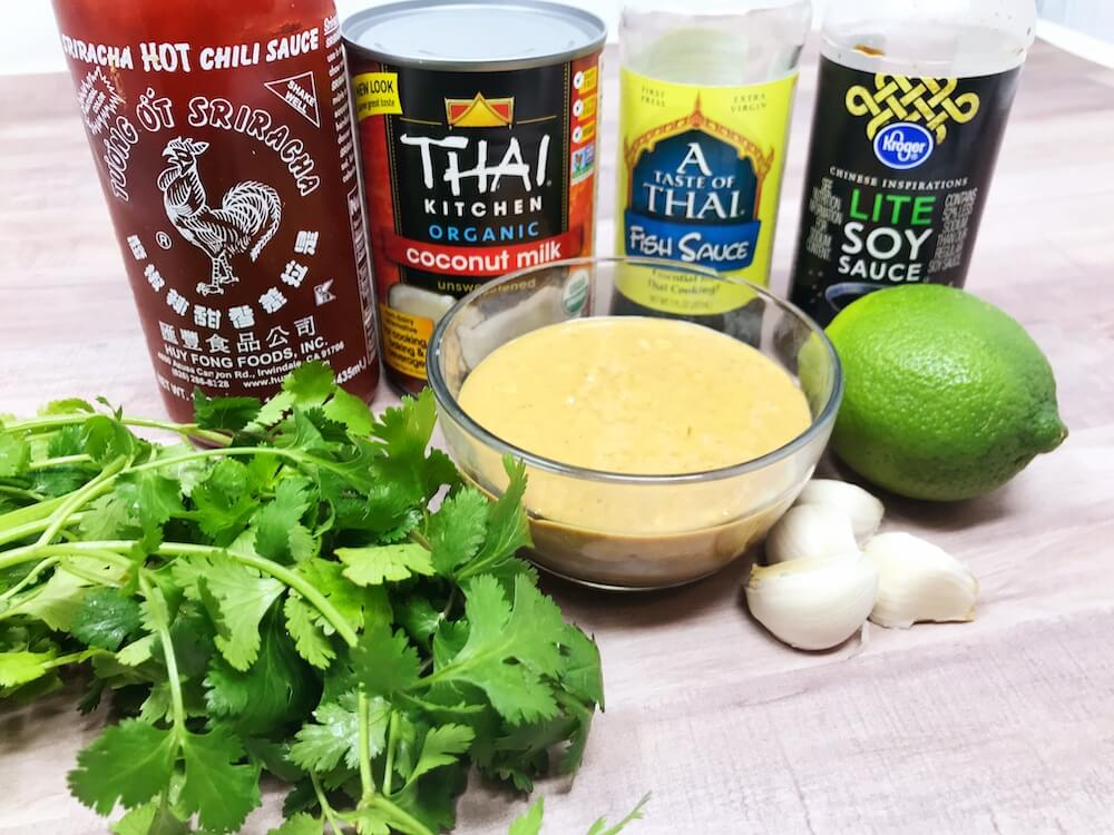 Keto Chicken Satay Dipping Sauce Ingredients