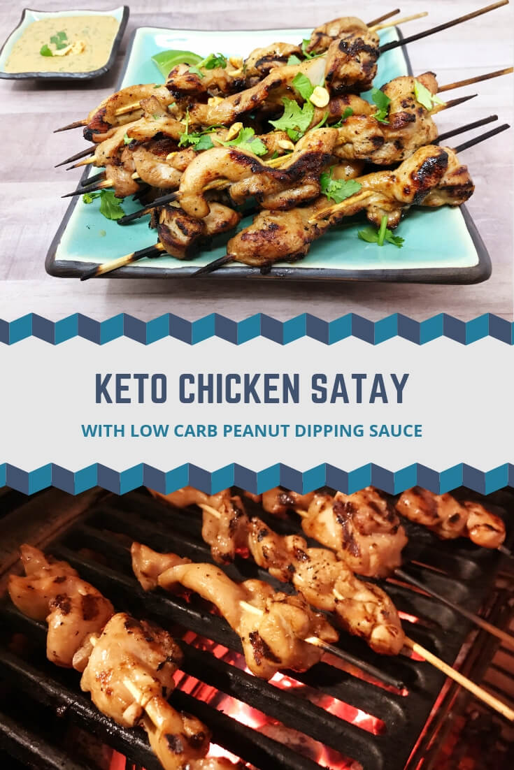 Tired of boring chicken and looking to change things up with a new low-carb dinner option? This easy keto chicken satay recipe will definitely do the trick. It's simple enough for beginners and keeps great for meal prep. #ketodinner #ketorecipes #lowcarb #satay