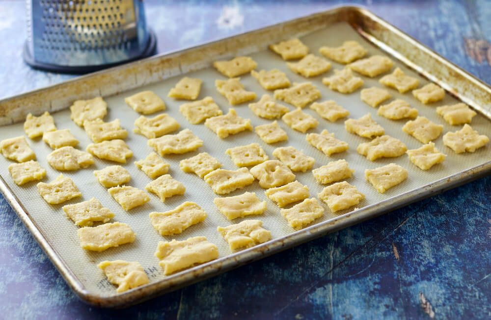 Low Carb Cheese Crackers - Keto Cheez-It Copycat - Ready To Bake