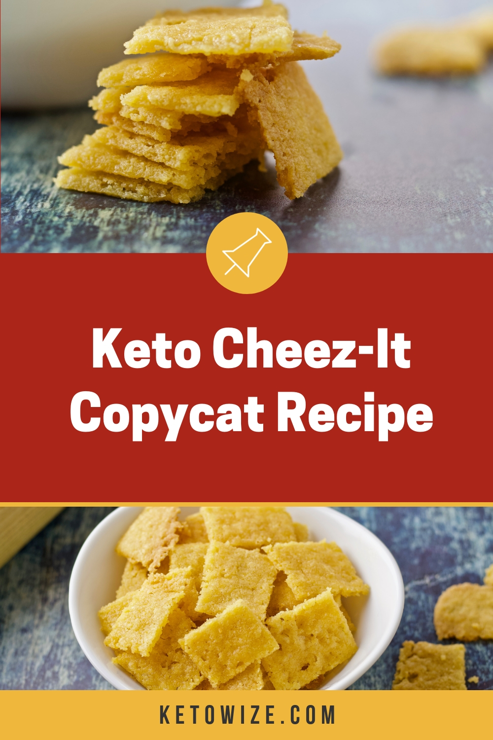 If you\'ve been on the keto diet for any length of time, you\'re probably craving the delicious crunch of a homemade cheese cracker.  This keto Cheez-It copycat recipe has everything you\'ve been missing...except the carbs.  Our simple low carb version uses almond flour, butter and cheddar to create the best keto Cheez-Its we\'ve ever tried.  Better than store bought and perfect for dipping in tomato soup, chili, or anything else you can think of.