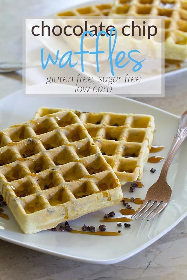 Keto Breakfast Recipes - 5 Ingredient Chocolate Chip Waffles