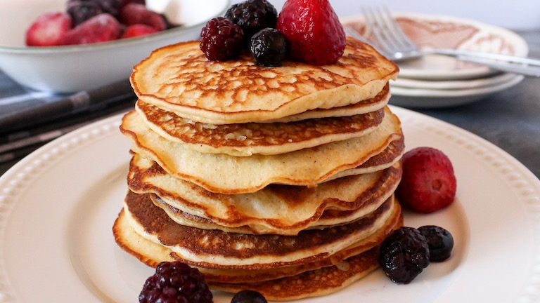 Keto Almond Flour Cream Cheese Pancake Recipe - Quick and Easy