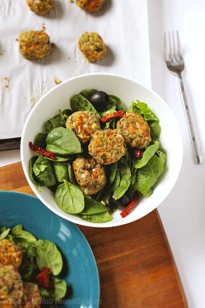 "Mediterranean Mung Bean & Olive ""Meatballs"" Vegetarian Keto Recipe"