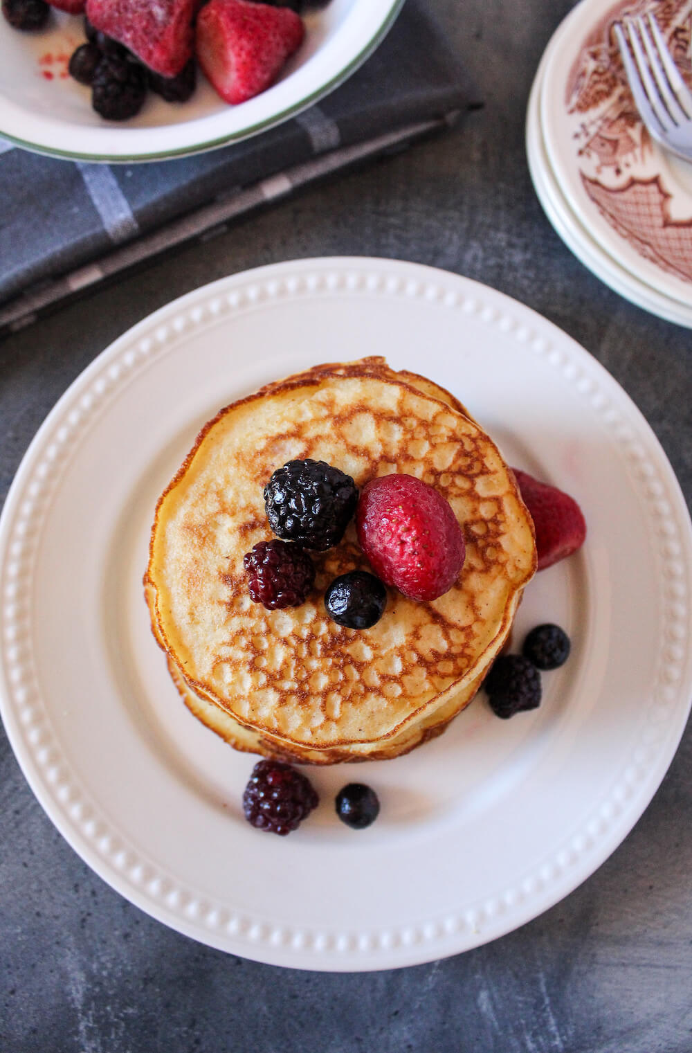Keto Almond Flour Pancakes make a delicious low carb breakfast