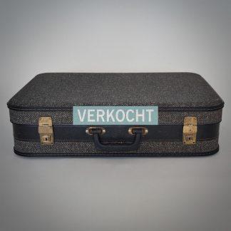 Antraciet kleurige vintage koffer