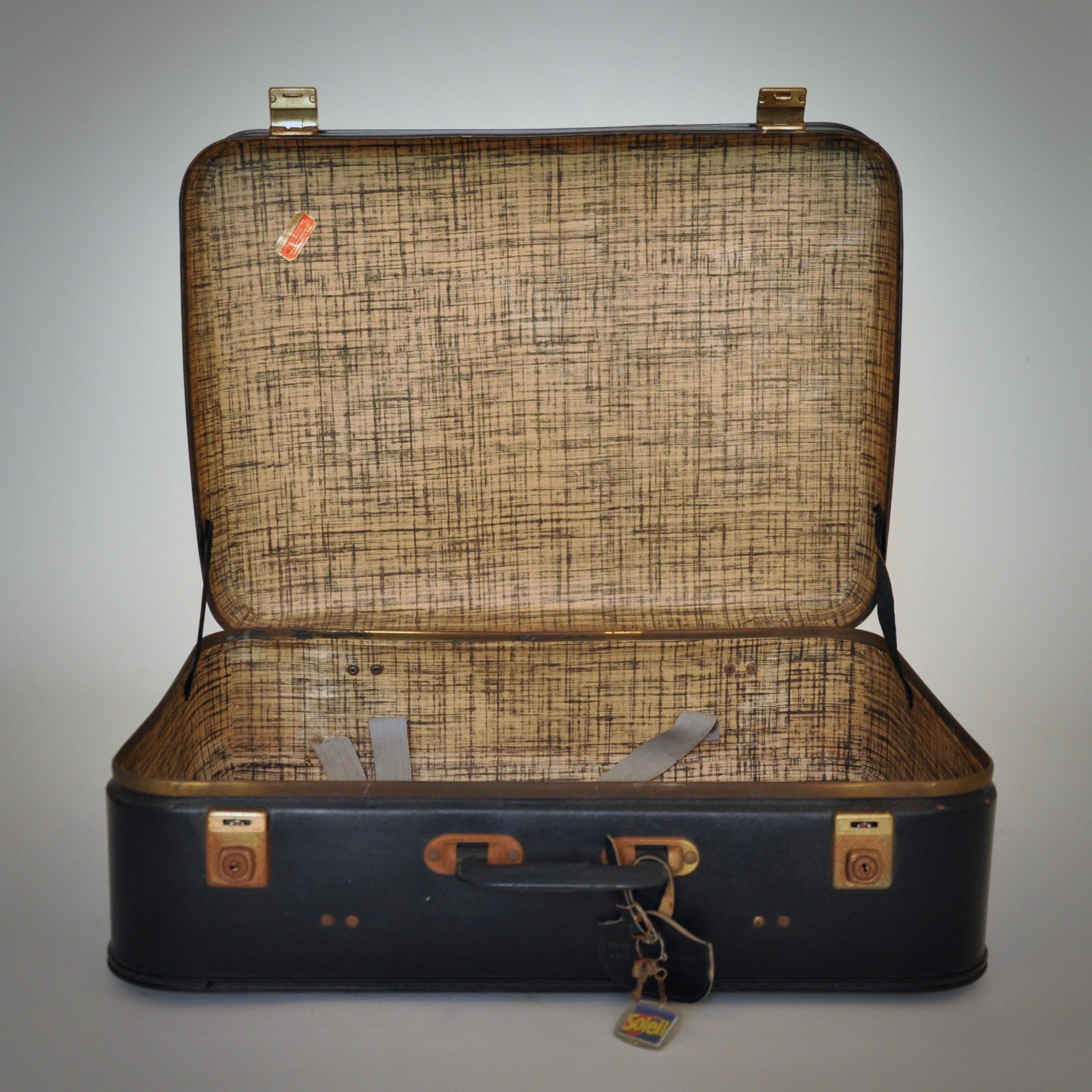 Vintage Koffer vintage zwarte koffer ketsch vintage check onze webshop