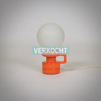 Retro Oranje Tafellampje