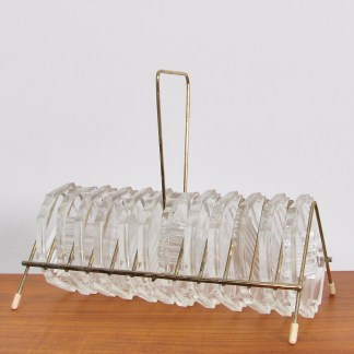 Vintage Rekje Met Glazen Onderzetters