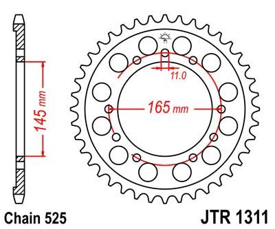 Kettenrad Aluminium 39 bis 46 Zähne (525) Honda VFR400