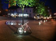 Bike in the Kettering Market at night