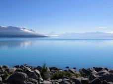 We just stepped outside our rental van home to take this picture of Lake Tekapo, New Zealand. ©KettiWilhelm2016