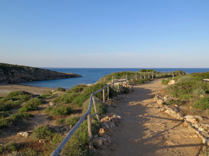 Just a quiet trail to a tranquil beach in the south of Sicily.