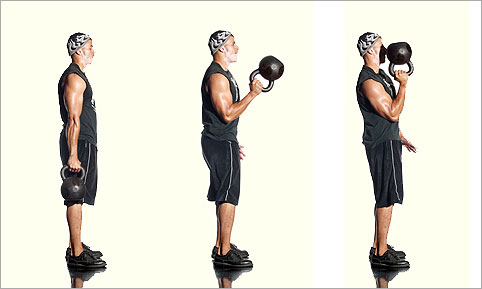 Kelltebell One Arm Exercises