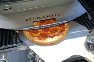 KettlePizza Gas Pro Deluxe USA Kit - Includes Gas Pro, Thermometer, Metal Peel and Stone - KPDU-GP