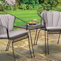 John Lewis Garden Chair Covers Pine Dining Chairs Uk Henley Iron Grey Furniture From Kettler Two Round Back In The At