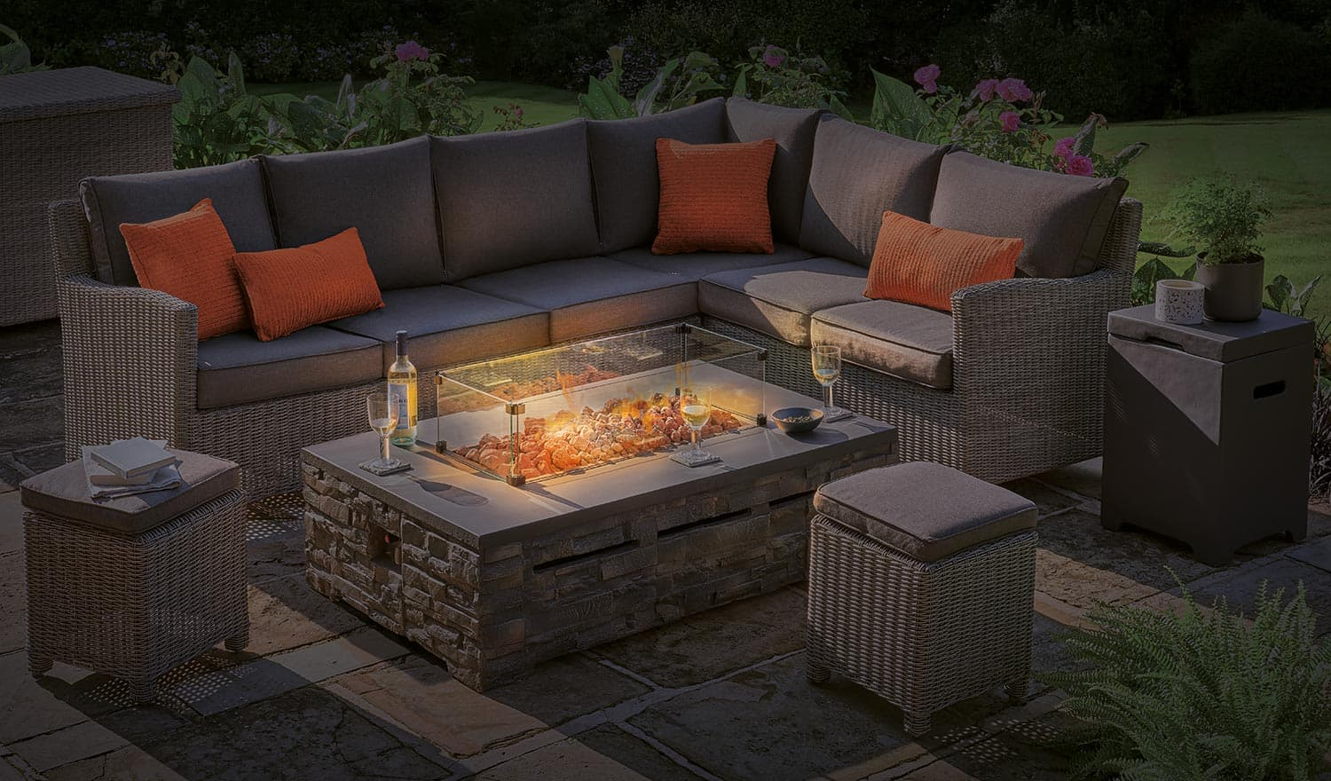 Stone Fire Pit Coffee Table 132 X 85cm Kettler Official Site