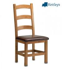 Philippe Oak Rustic Ladder Back Chair | Dining Sets ...