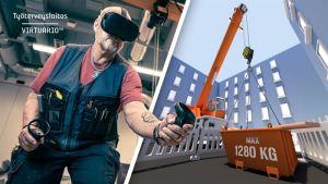 Virtuaalitodellisuus haastaa perinteisen työturvallisuuskoulutuksen
