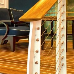 Living Room Floor Ideas Pictures Of Rooms With Wood Floors Nautical Cable Railing Design - Hampton, Va Keuka Studios