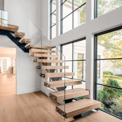 Cable Railings And Stairs Custom Designs By Keuka Studios | Traditional Staircase Designs For Homes | Antique | Nice | Low Cost | Entryway | Wonderful