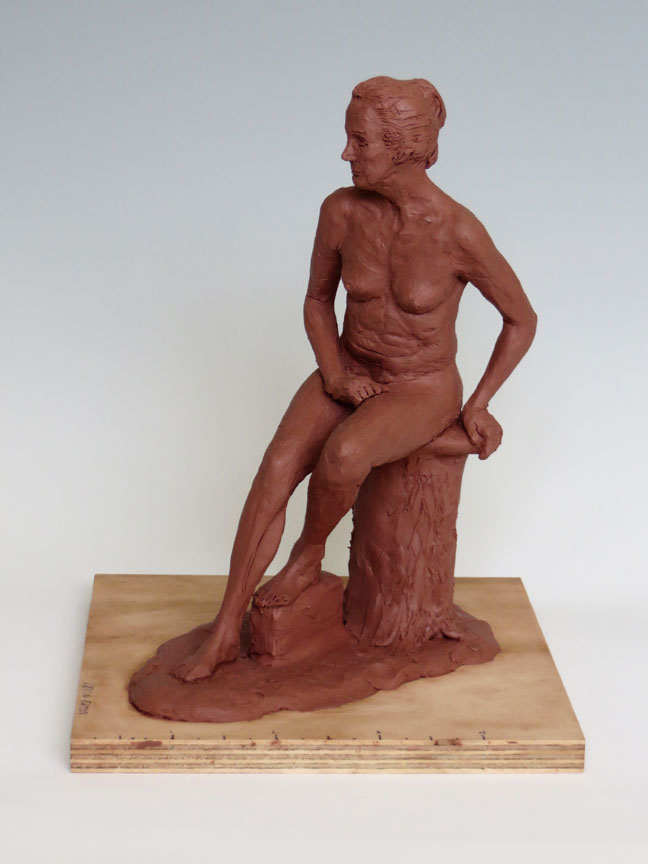 Seated Woman Sculpture by Kevin Eaton