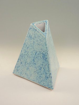 Speckled My Blue Heaven Vase by Kevin Eaton