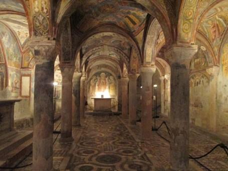 Cripta da catedral de Anagni